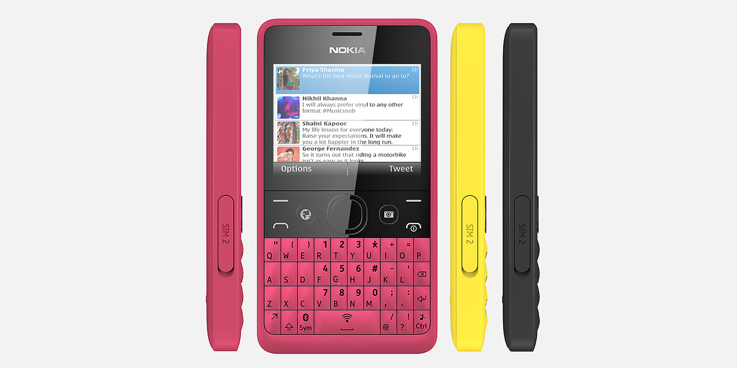 Nokia Asha 210 Front and Side View