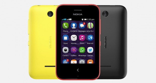Nokia Asha 230 Front and Back View