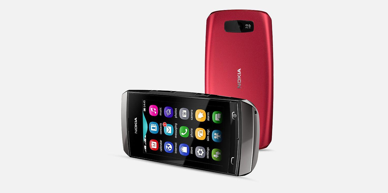 Nokia Asha 305 Back and Horizontal View