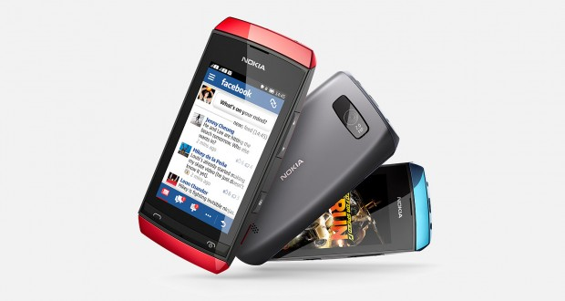 Nokia Asha 305 Front and Back View