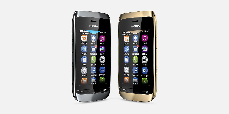 Nokia Asha 308 Overall View