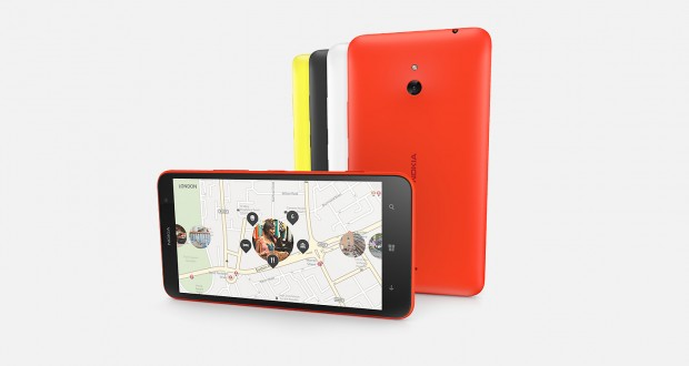 Nokia Lumia 1320 Front and Back View