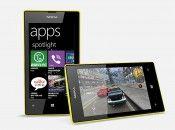 Nokia Lumia 520 Front and Horizontal View
