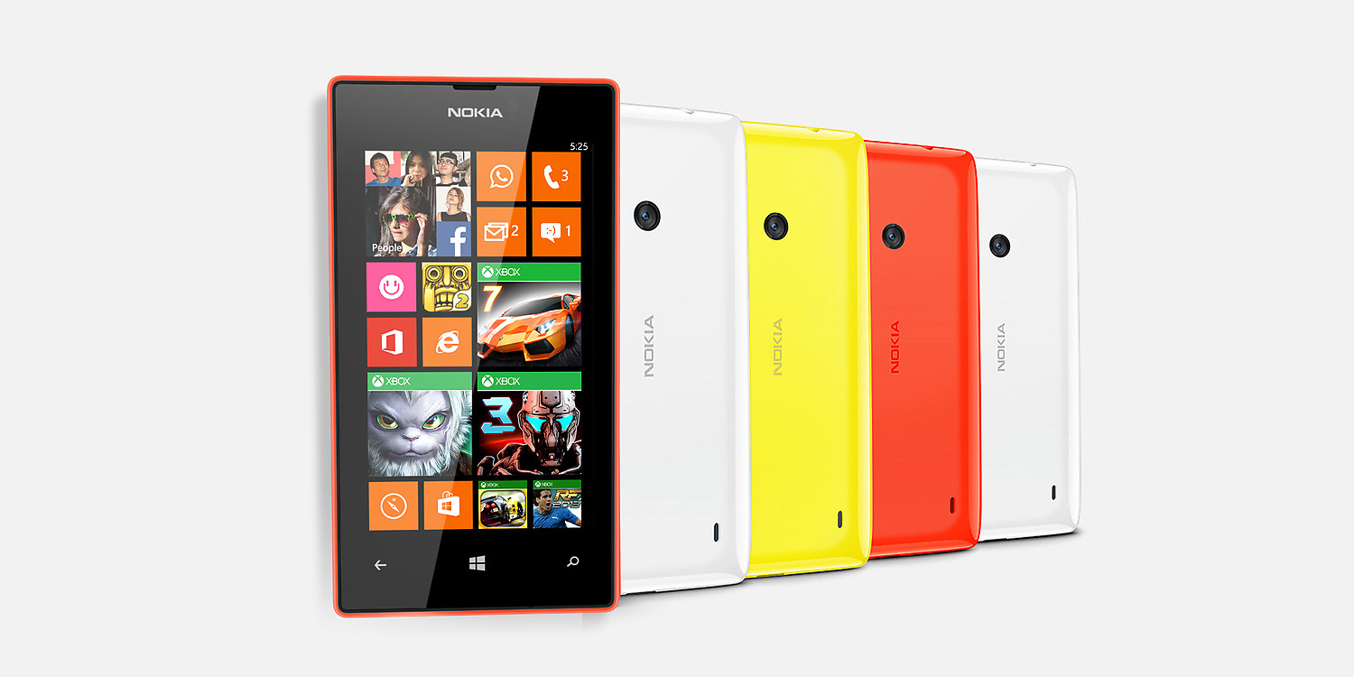 Nokia Lumia 525 Front and Back View