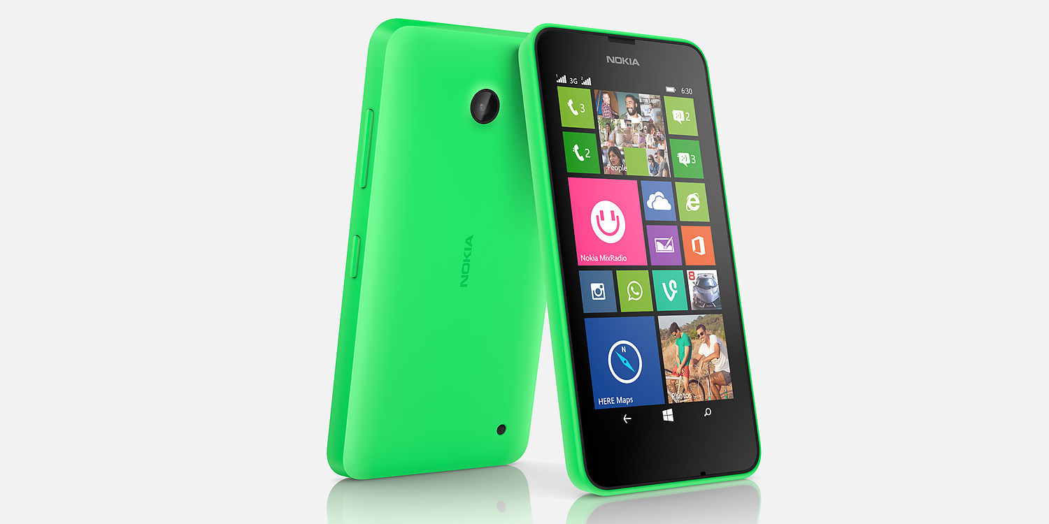Nokia Lumia 630 Front and Back View