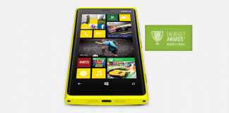Nokia Lumia 920 Front View