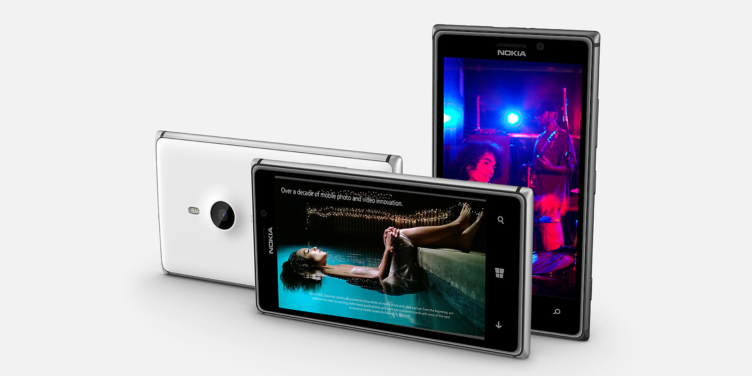 Nokia Lumia 925 Front and Back View