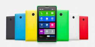 Nokia X Front and Back View