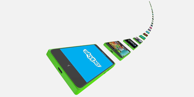 Nokia X Plus Front View