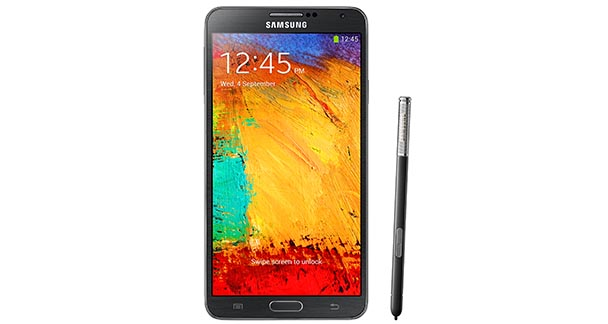 Samsung Galaxy Note 3 Front View with Pen Black
