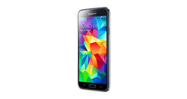 Samsung Galaxy S5 Front and Side View