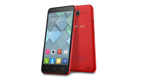 Alcatel One Touch Idol S Front and Back View