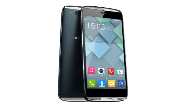 Alcatel One Touch Idol S Front and Side View