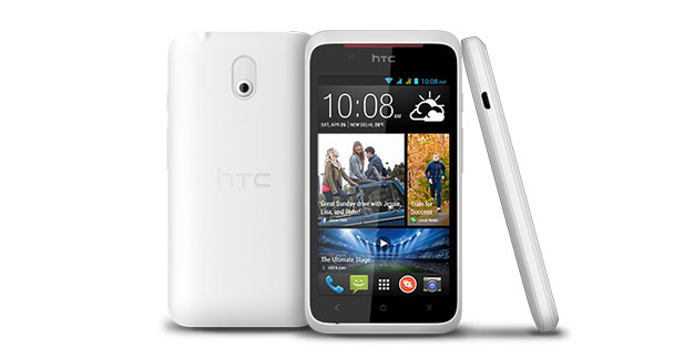HTC Desire 210 Front and Back View