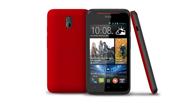 HTC Desire 210 Front and Side View