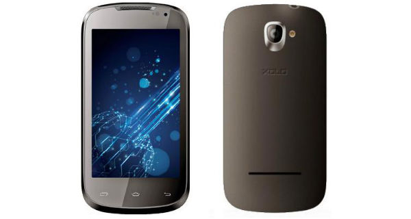 XOLO A500 Front and Back View