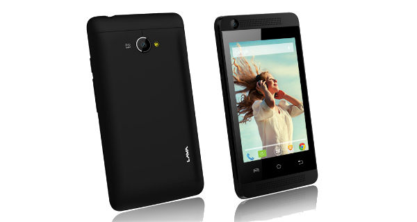 Lava Iris 360 Music Front and Back View