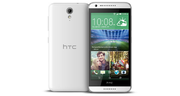 HTC Desire 620G Front and Back View