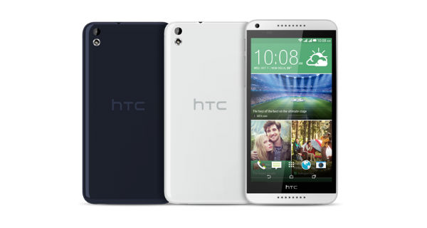 HTC Desire 816G Dual SIM Front and Back View