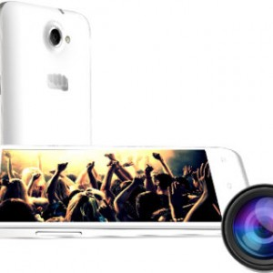 Micromax Canvas Blaze MT500 Front and Back View