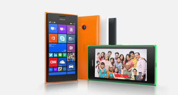 Nokia Lumia 730 Front and Horizontal View