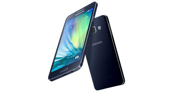 Samsung Galaxy A3 Front and Back View
