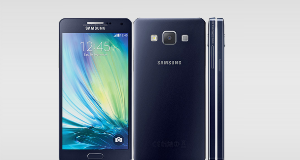 Samsung Galaxy A5 Font and Back