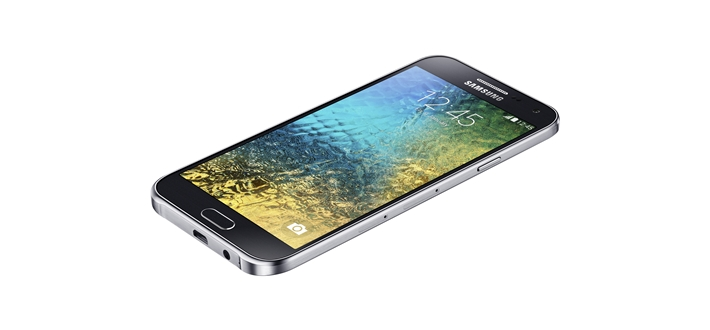 Samsung Galaxy E5 Front and Side View