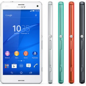 Sony Xperia Z3 Compact Front and Side View