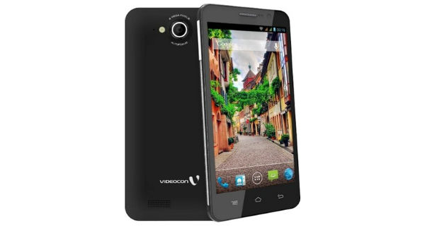Videocon A55 HD Front and Back View