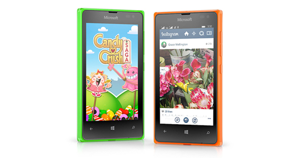 Microsoft Lumia 532 Dual Front & Side View