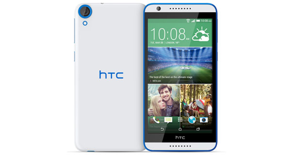 HTC Desire 820s Front & Back View