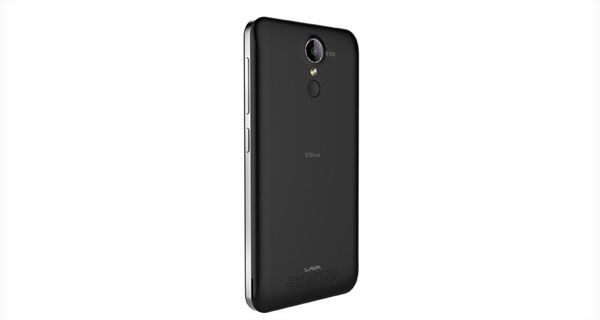 Lava Iris Fuel10 Back & Right Side View