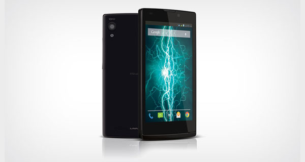 Lava Iris Fuel60 Front & Back View