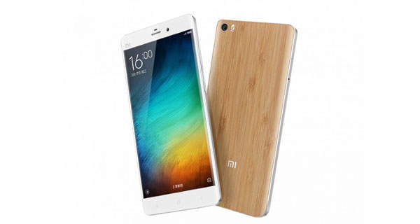 Xiaomi Mi Note Front & Back View