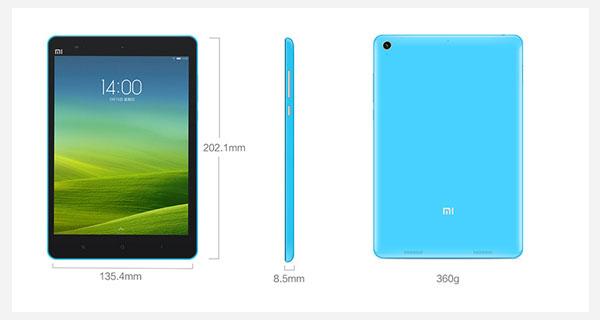 Xiaomi MiPad Overall View