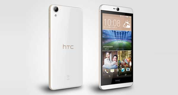 HTC Desire 826 Front and Back View
