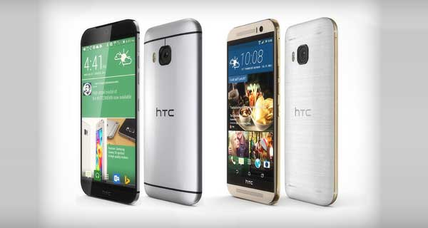 HTC M9 Front and Back View
