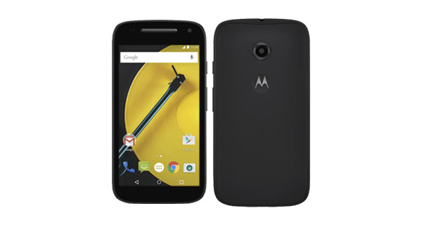 Motorola Moto E (2nd Gen) 4G Front and Back View