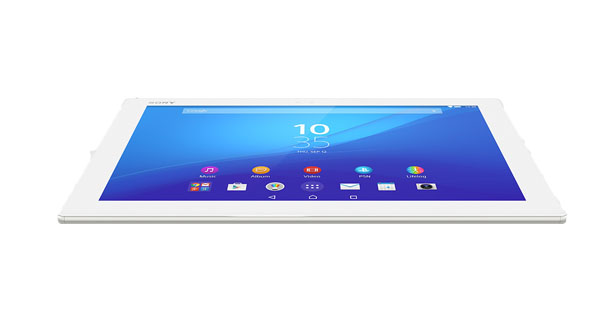 Sony Xperia Z4 Tablet Top View