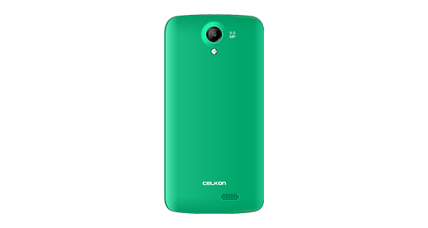 Celkon Millennia Q519 Green Back View