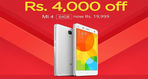 Xiaomi Mi 4 64GB variant price slashed by Rs. 4000 in India; second price cut since its launch