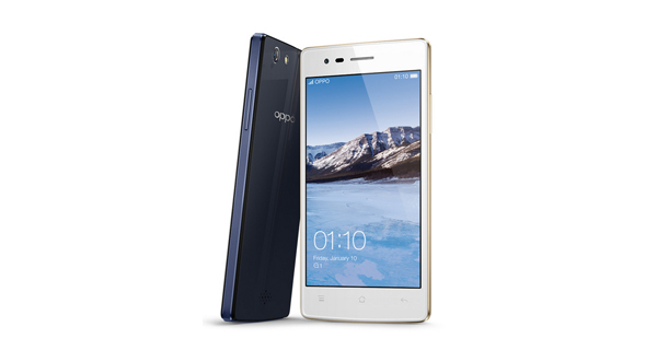 Oppo Neo 5 Front and Back View