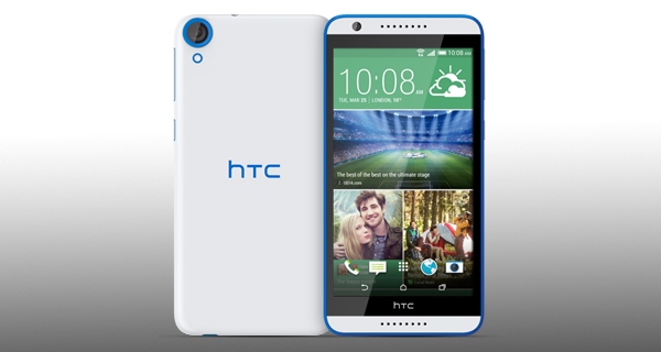 HTC Desire 820G Plus Dual Sim Front and Back View