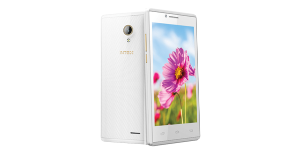 Intex Aqua Q5 Front and Back View