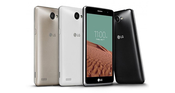 LG Bello II Front and Back View