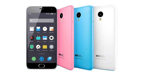 Meizu M2 Front and Back View