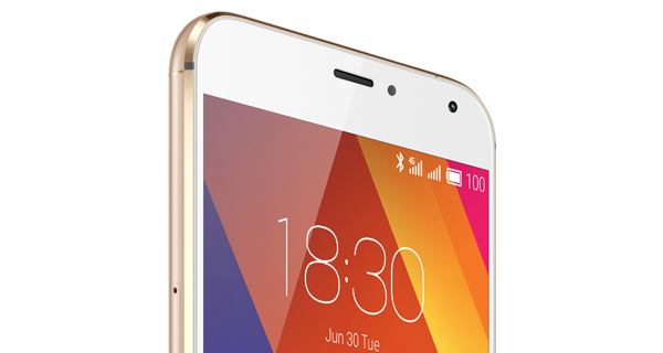 Meizu MX5 Top Front View
