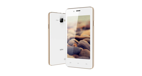 Spice Xlife 406 Front and Back White Color