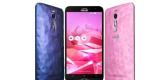 Asus Zenfone 2 Deluxe Front and back View